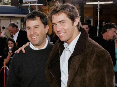 David Beaubaire and John Gatins at the premiere of &quot;Dreamer.&quot;